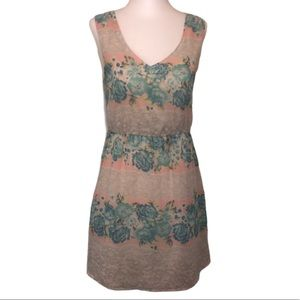 Charlotte Russe Casual Grey floral Dress